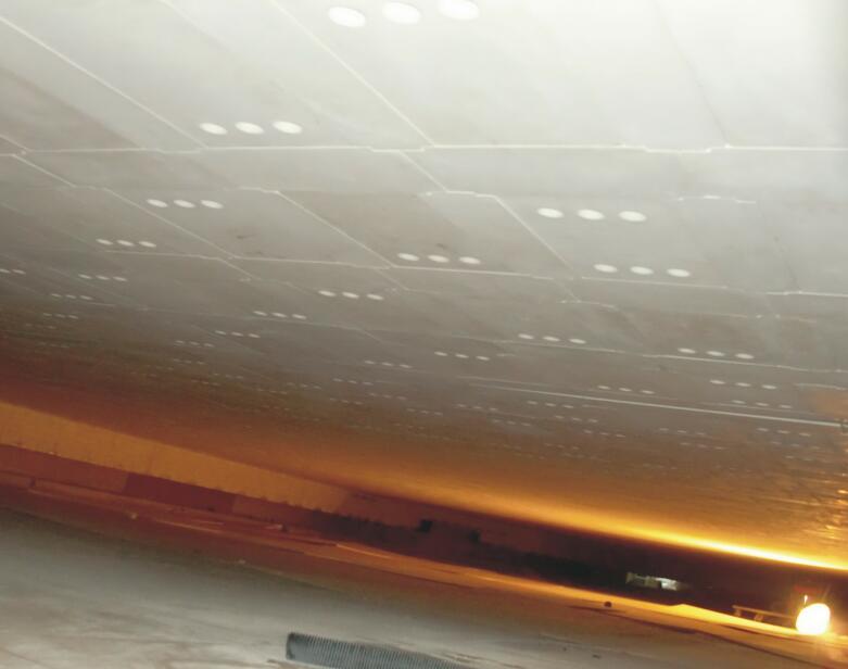 锡槽顶盖安装